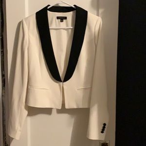 Black and white tuxedo blazer